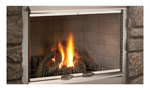 Superior Fireplaces Brushed Stainless Outdoor Bi-Fold Door