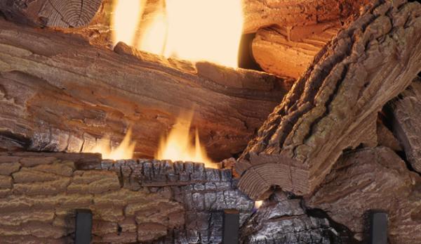 Superior Fireplaces MOSSY OAK Concrete logs-1