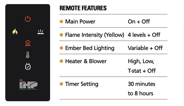Superior Fireplaces ERL2000 Remote Control