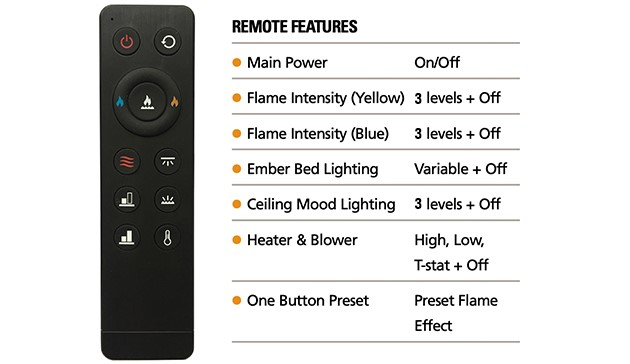 Superior Fireplaces Electric Remote Control